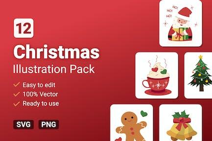 Weihnachts-Illustrationen Pack