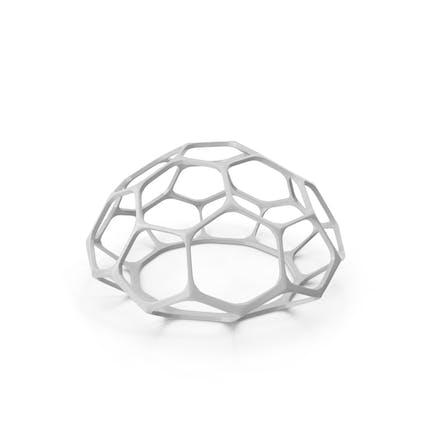 Decoración del hemisferio hexagonal