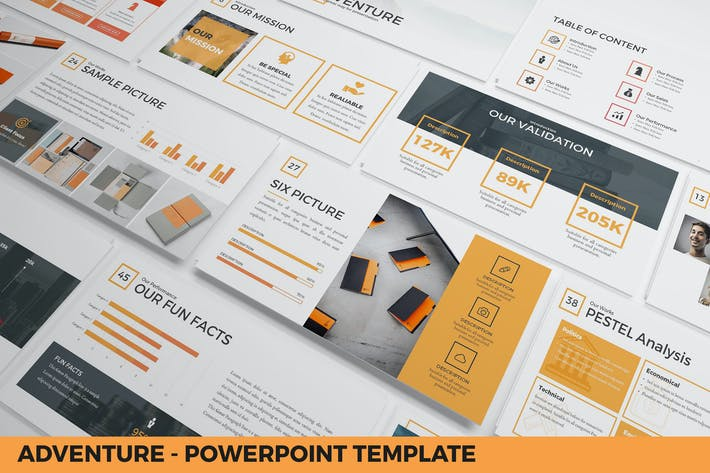 Thumbnail for Adventure - Powerpoint Template Presentation