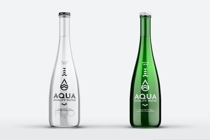 Water Glass Bottle Mock-Up