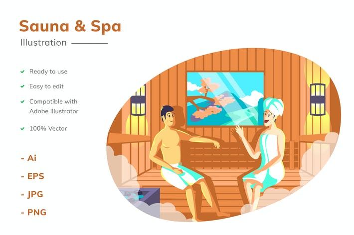 Sauna Illustration