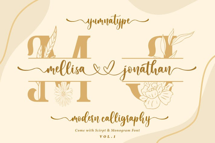 Cover Image For Mellisa Jonathan - Wedding Font