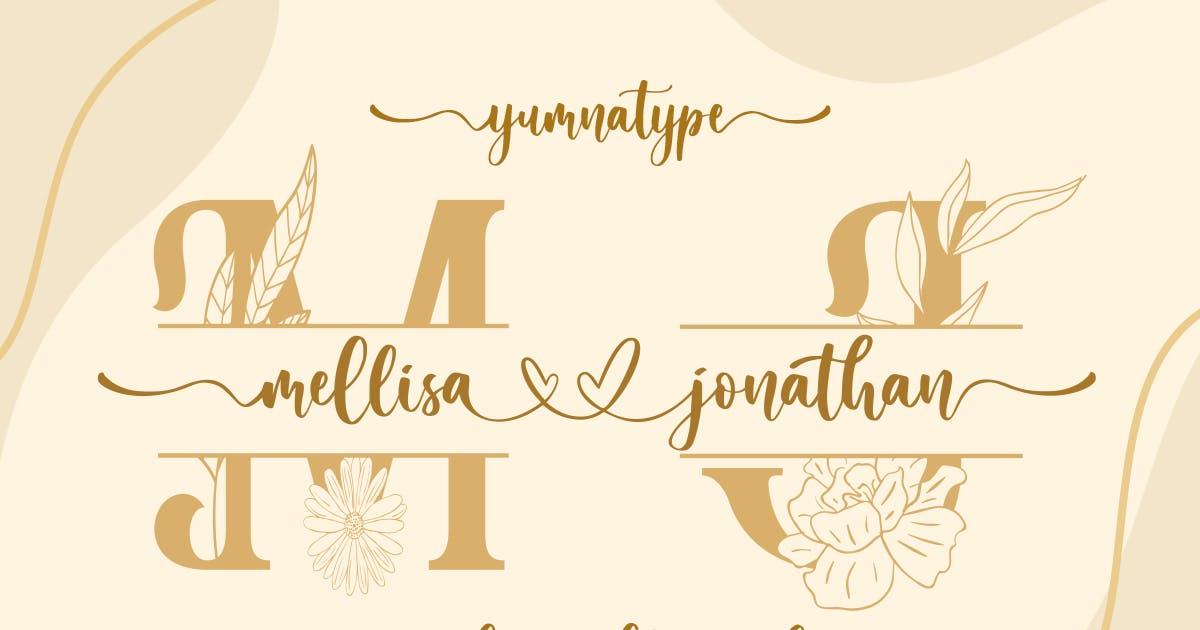 Download Mellisa Jonathan - Wedding Font by YumnaStudio