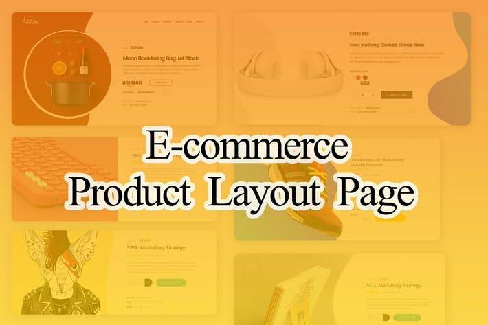 Thumbnail for E-commerce Product Layout UI PSD