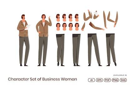 Zeichensatz von Geschäftsfrau