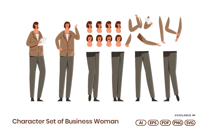 Character Set of Business Woman