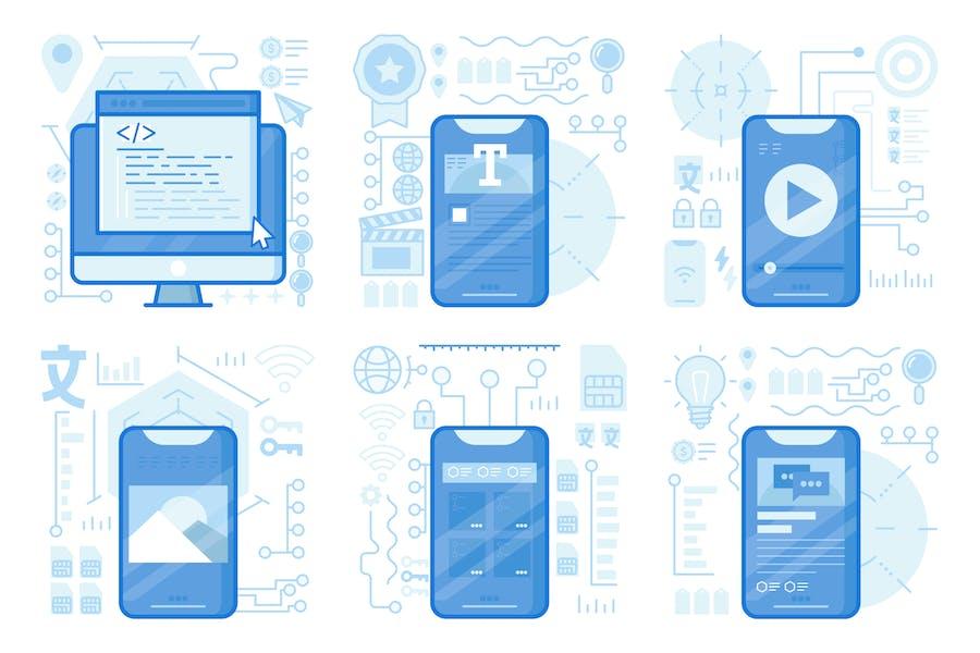 Website Coding UI UX Illustrations