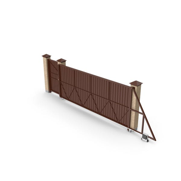 Thumbnail for Sliding Brown Driveway Gates