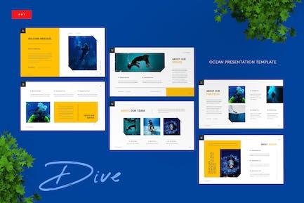 Dive - Ocean Powerpoint Presentation Template