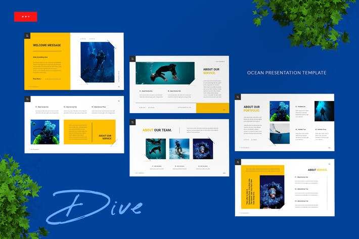 Thumbnail for Dive - Ocean Powerpoint Presentation Template