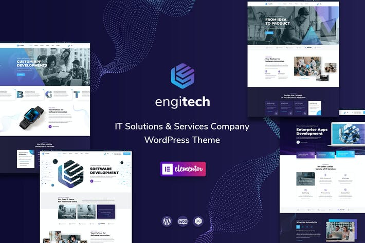 Thumbnail for Engitech - IT Solutions & Services WordPress Theme