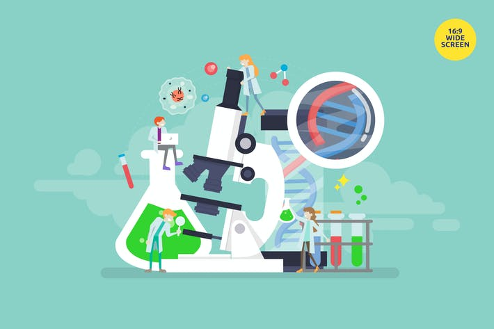 Thumbnail for Genetic Science Technology Vector Concept