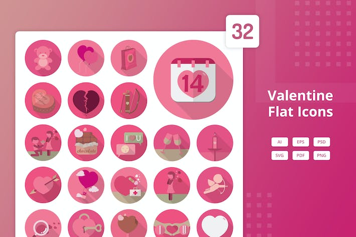 Thumbnail for Valentine - Flat Icons