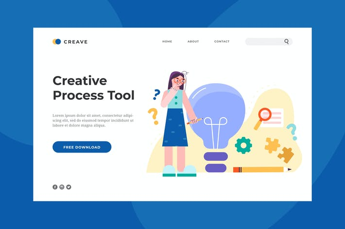 Thumbnail for Creative Process Landing Page