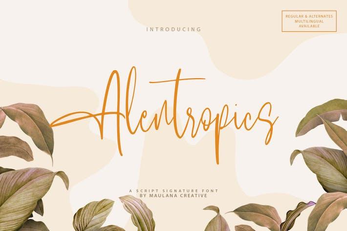 Alentropics - Script Signature Font