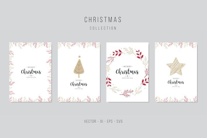 Thumbnail for Christmas Vector Card Set. vol.6
