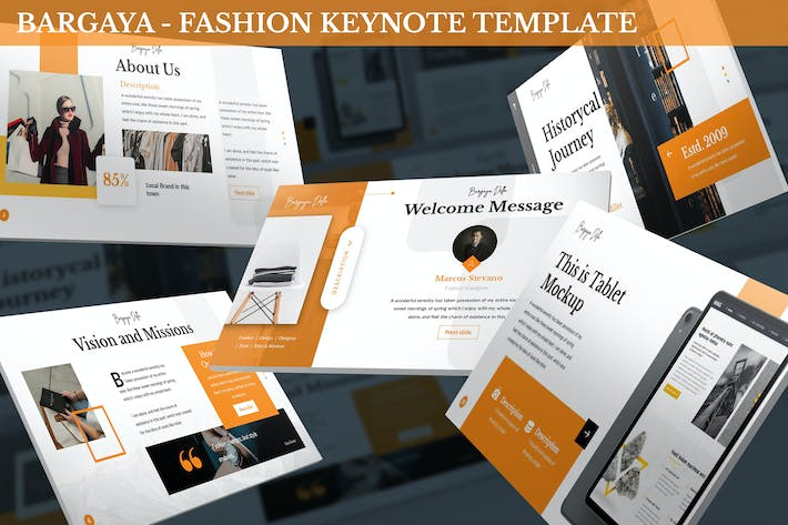 Thumbnail for Bargaya - Fashion & Lookbook Keynote Template