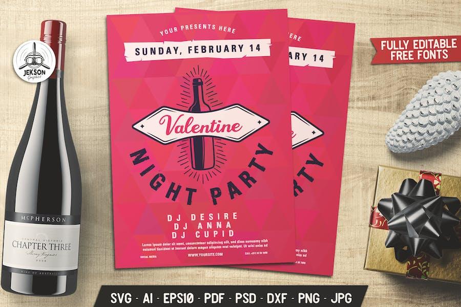 Valentines Night Party Flyer Brochure