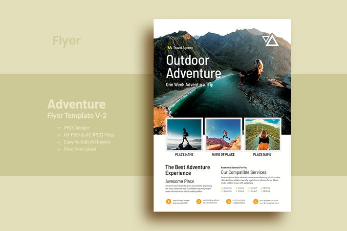 Thumbnail for OutDoor Adventure Flyer Template V-2