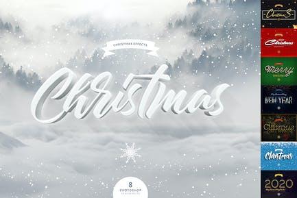 Рождественские текстовые эффекты