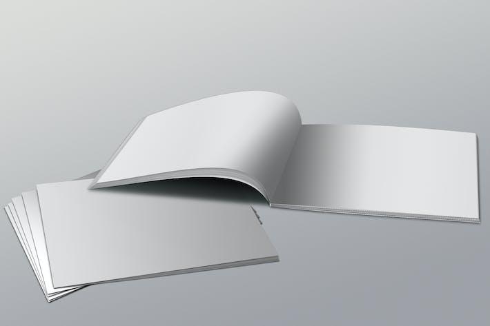 Thumbnail for Realistic Landscape Brochure Mockups