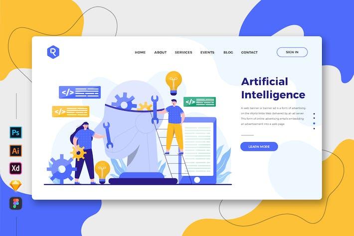 Thumbnail for Artificial Intelligence Web & Mobile Landingpage