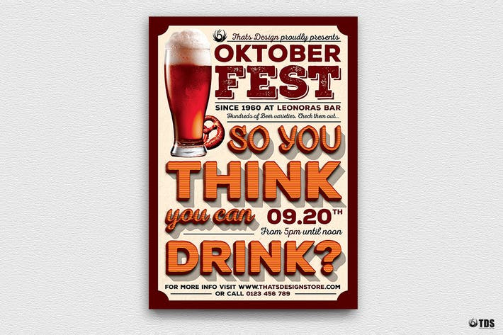 Thumbnail for Oktoberfest Flyer Template V9