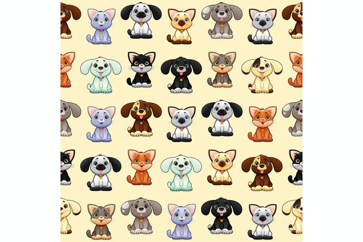 Cats and Dogs Background