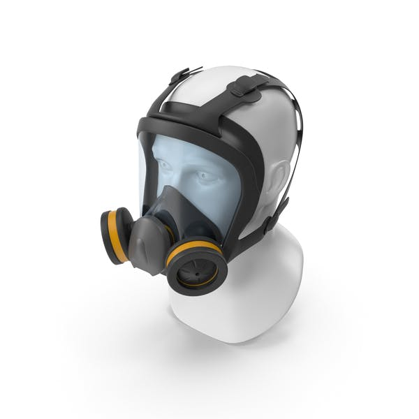 Full Face Reusable Double Filters Respirator