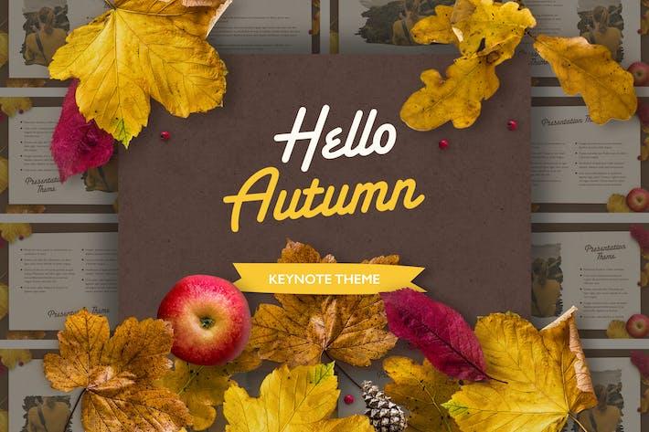 Golden Leaves Keynote Theme