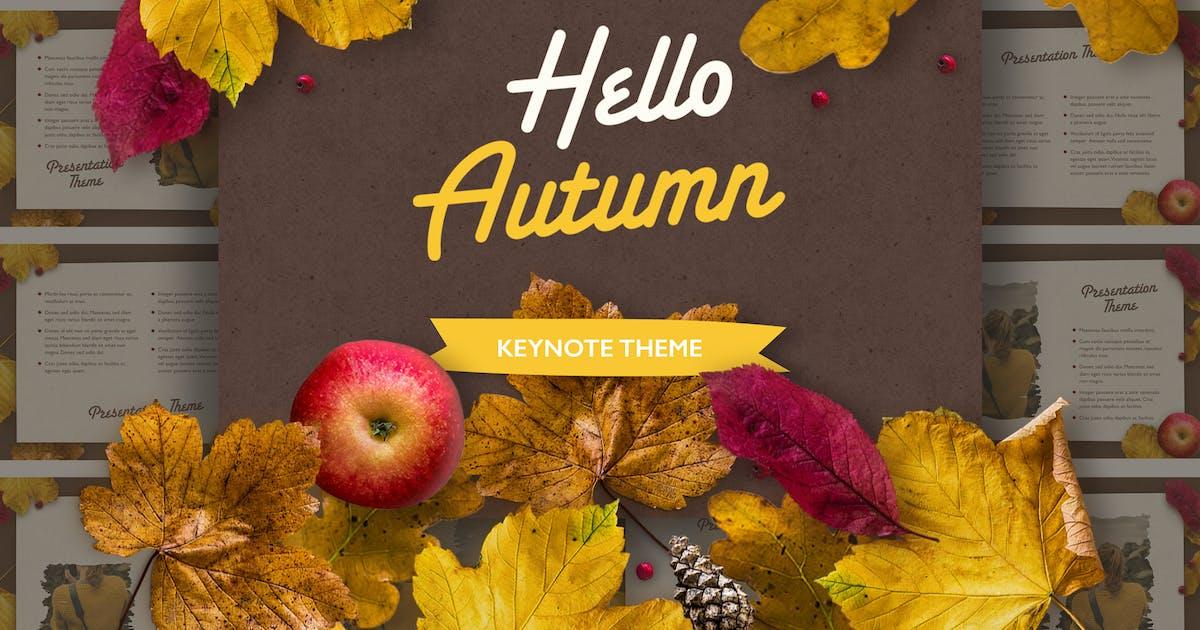 Download Golden Leaves Keynote Theme by Jumsoft