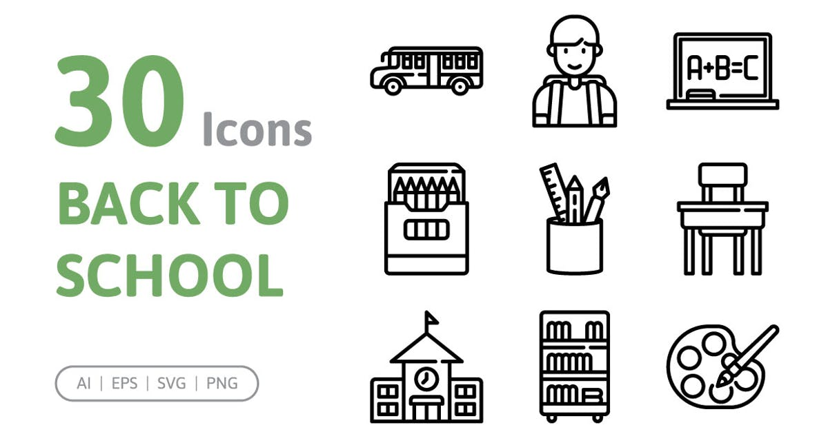 Download 30 Back to School Icons by konkapp