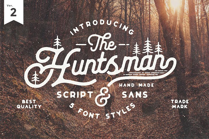 Thumbnail for The Huntsman Semi Rounded Script and Sans Ver.2