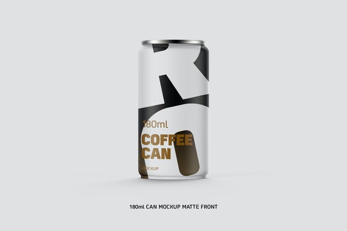 Thumbnail for Coffee Can w/n Bottom Cap 180ml Matte Eye Level