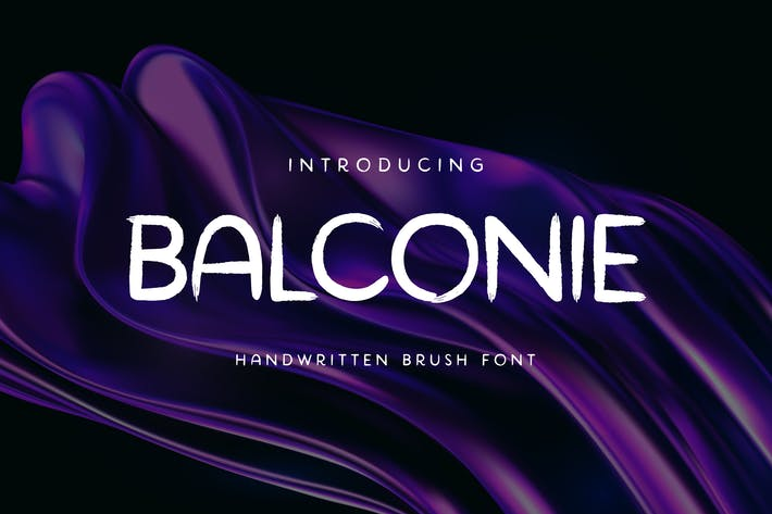 Thumbnail for Pincel Balconie Tipo de letra manuscrita