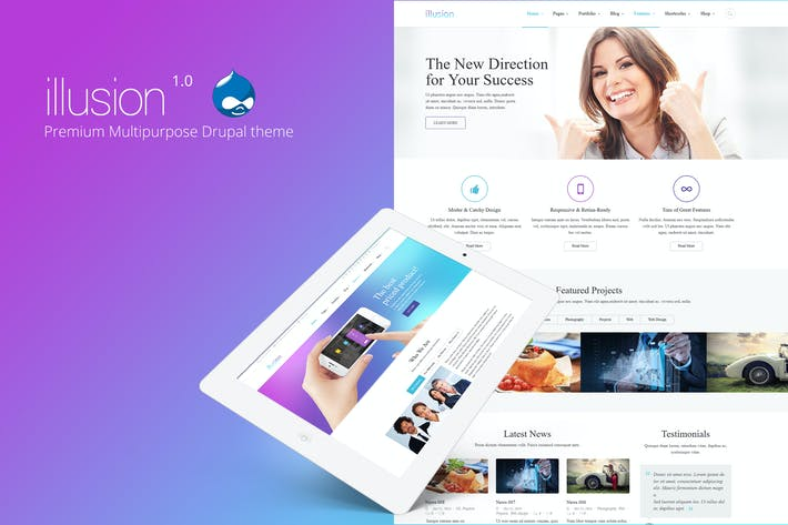 Thumbnail for illusion - Premium Multipurpose Drupal Theme