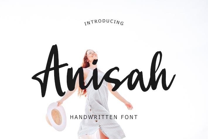 Thumbnail for Рукописный шрифт Аниса