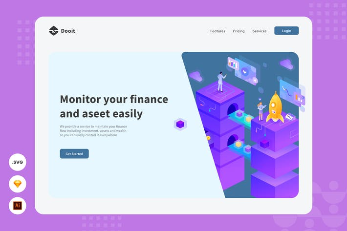 Thumbnail for Stabilize Your Income  Website Header illustration