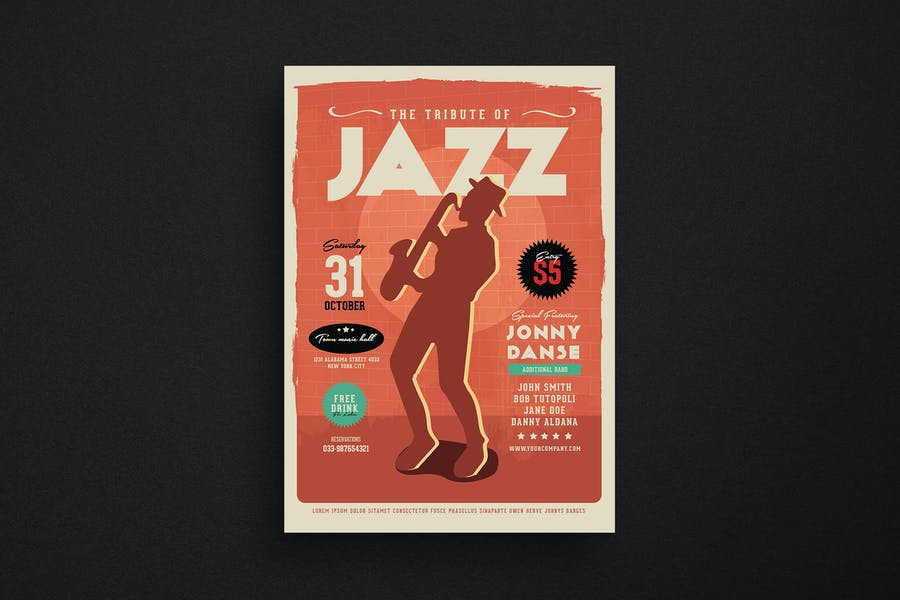 Old Jazz Music Flyer