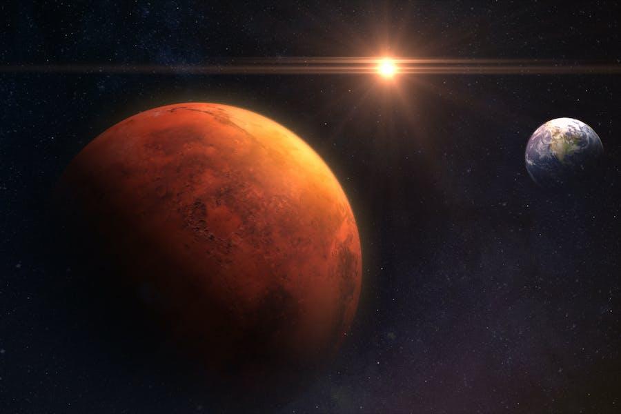 Erde- und Mars-Hintergrund V1