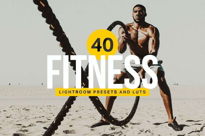 Thumbnail for 40 Fitness Lightroom Presets and LUTs