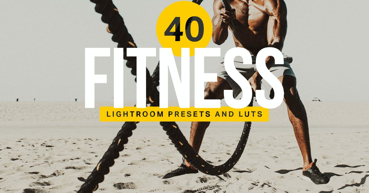 Download 40 Fitness Lightroom Presets and LUTs by sparklestock
