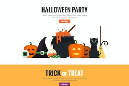 Halloween flat designed Banners