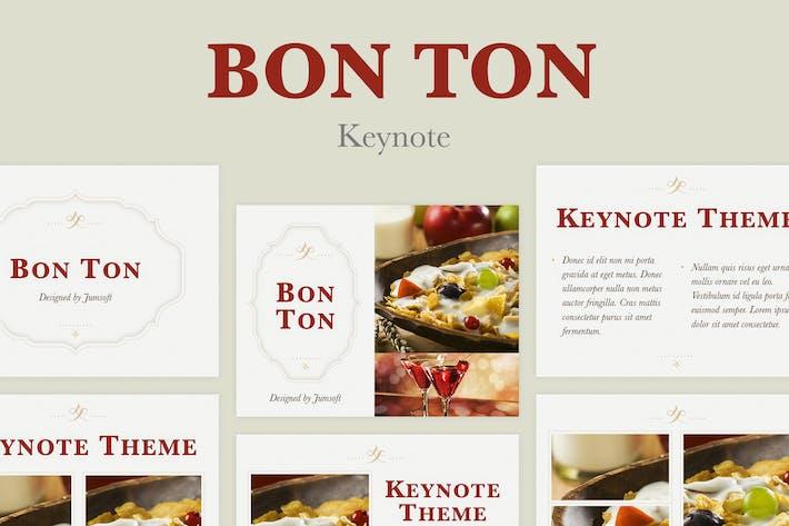 Thumbnail for Bon Ton Keynote Template