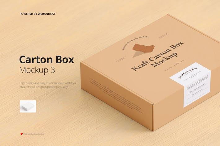 Postversand-Karton Mockup 3