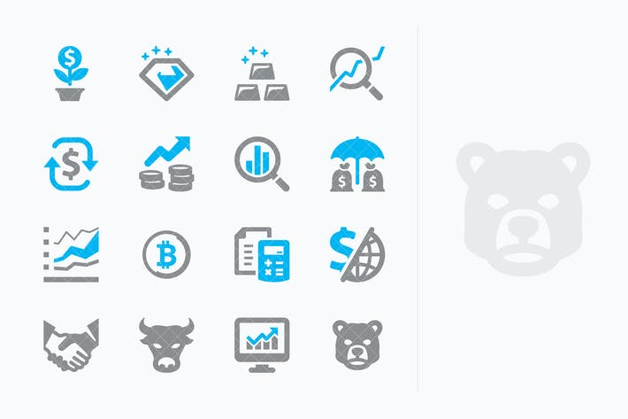 Personal & Business Finance Icons Set 4 - Sympa