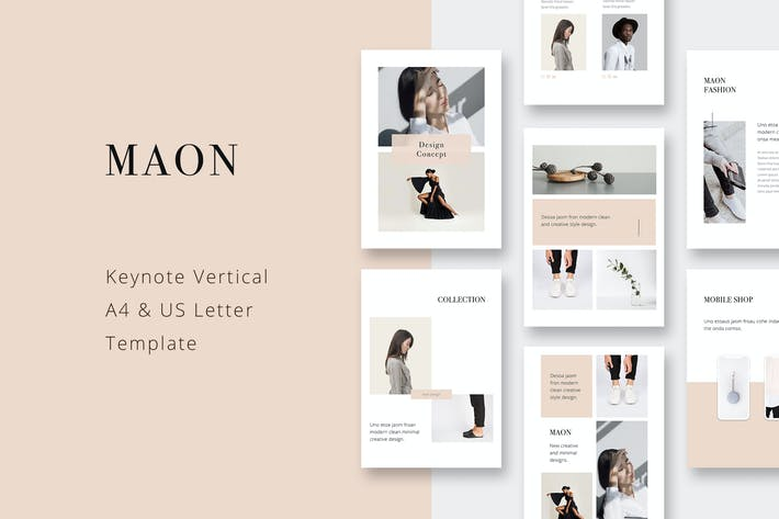 Thumbnail for MAON - Vertical Keynote A4 + US Letter Template