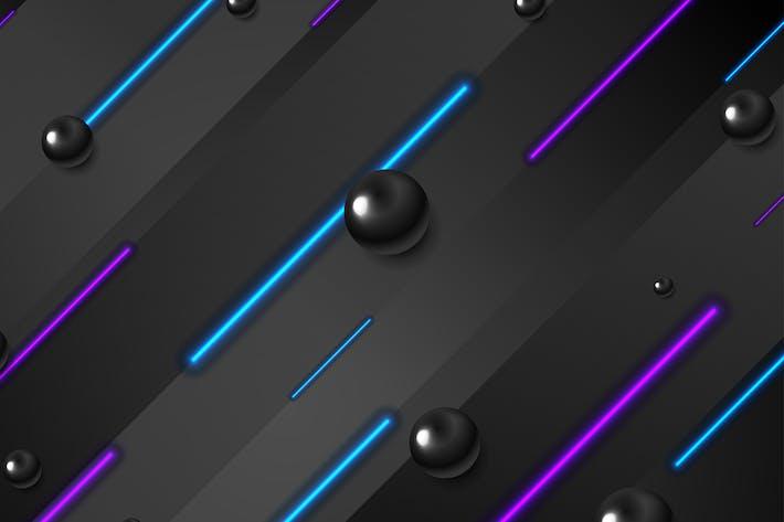 Retro-Tech-Hintergrund mit Laser-Neonlinien