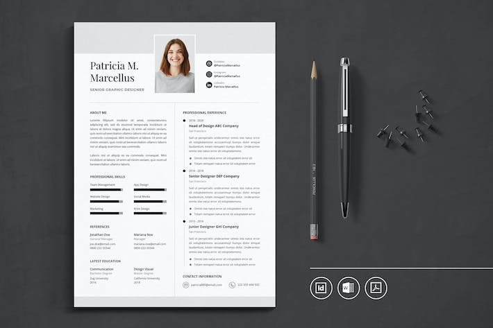 Thumbnail for Professional CV Resume Indesign Template Vol.48