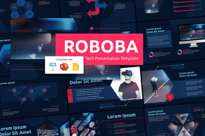Thumbnail for ROBOBA (DARK) - Tech Presentation Template